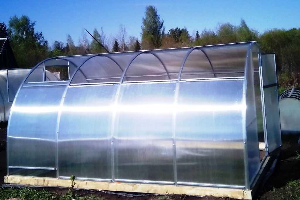 теплица из поликарбоната с прямой крышей фото
